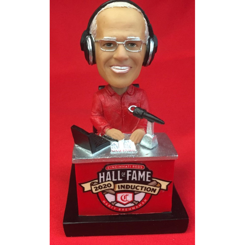 Hall of Fame 2020 Marty Brennaman AUTOGRAPHED Bobblehead - Exclusive Collection of 100 - Bobblehead NUMBER 90