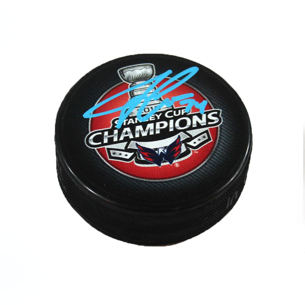 John Carlson Washington Capitals Signed 2018 Stanley Cup Champions Hockey Puck