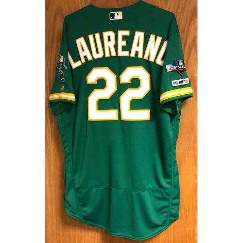 Photo of Team Issued Ramon Laureano Jersey w/ 2019 Postseason & MLB 150 Patch