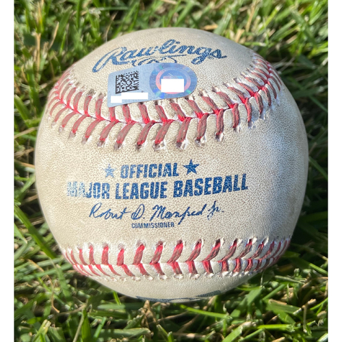 Photo of Cardinals Authentics: Game Used Baseball Pitched by Jack Flaherty to Christian Yelich *Strikeout*
