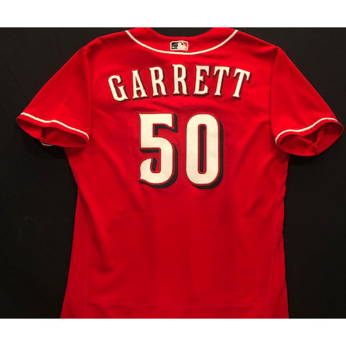Photo of Amir Garrett -- 2020 Spring Training Jersey -- Team-Issued -- Size 46