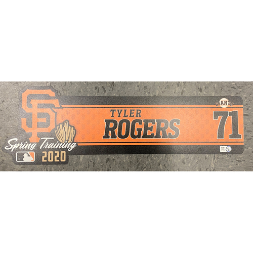 Photo of 2020 Team-Issued Spring Training Locker Tag - #71 Tyler Rogers