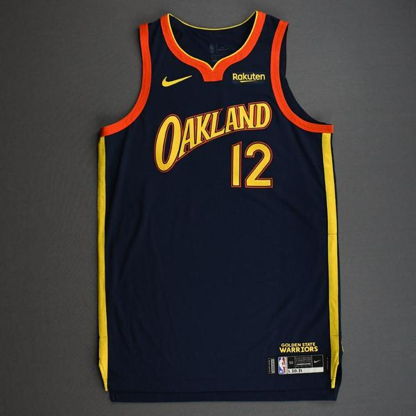 Image of Kelly Oubre Jr. - Golden State Warriors - Game-Worn City Edition Jersey - 2020-21 NBA Season