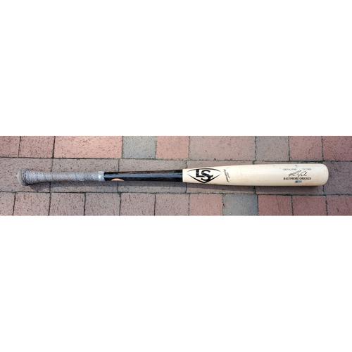 Photo of Pat Valaika: Broken Bat - Game Used