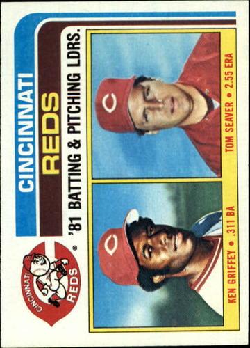Photo of 1982 Topps #756 Ken Griffey/Tom Seaver TL