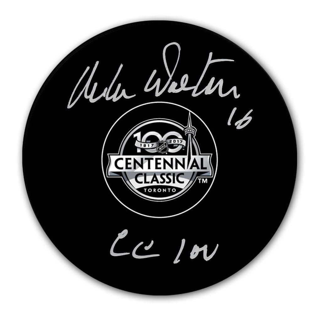 Mike Walton 2017 Centennial Classic Autographed Puck Toronto Maple Leafs