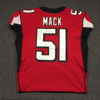 CRUCIAL CATCH - FALCONS ALEX MACK SIGNED AND GAME ISSUED FALCONS JERSEY  (OCTOBER 15, 2017) SIZE 46
