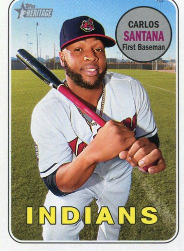 Photo of 2018 Topps Heritage #340 Carlos Santana