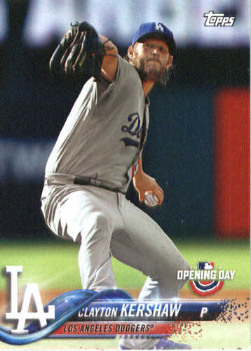 Photo of 2018 Topps Opening Day #1 Clayton Kershaw