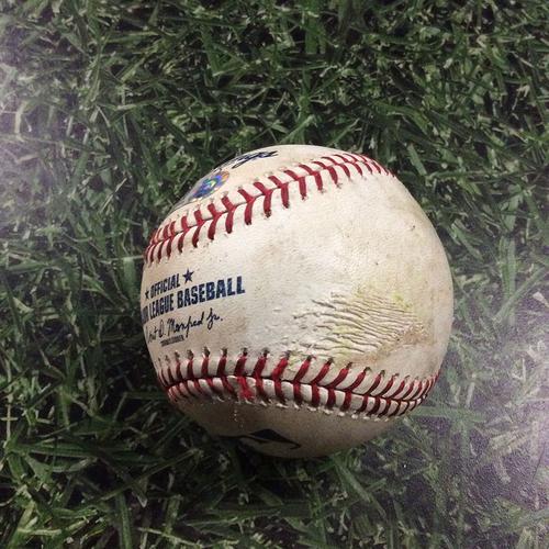 Photo of Game-Used Baseball ARI@MIL  05/22/18 - Matt Koch - Ji-Man Choi: Double