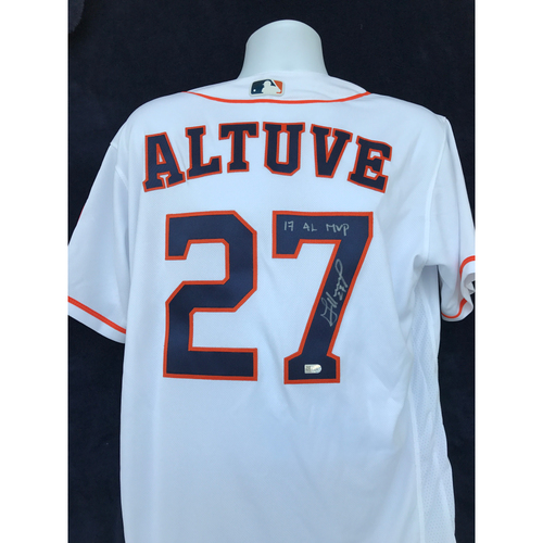 "Photo of Mauer & Friends Kids Classic Charity Auction: Jose Altuve Autographed Jersey Inscribed ""17 AL MVP"""