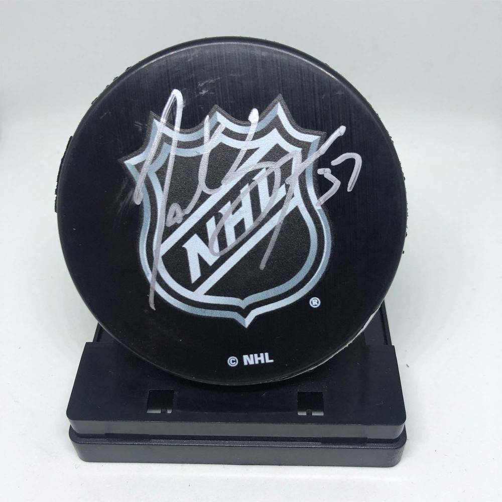 NHL Puck Signed by #37 Patrice Bergeron