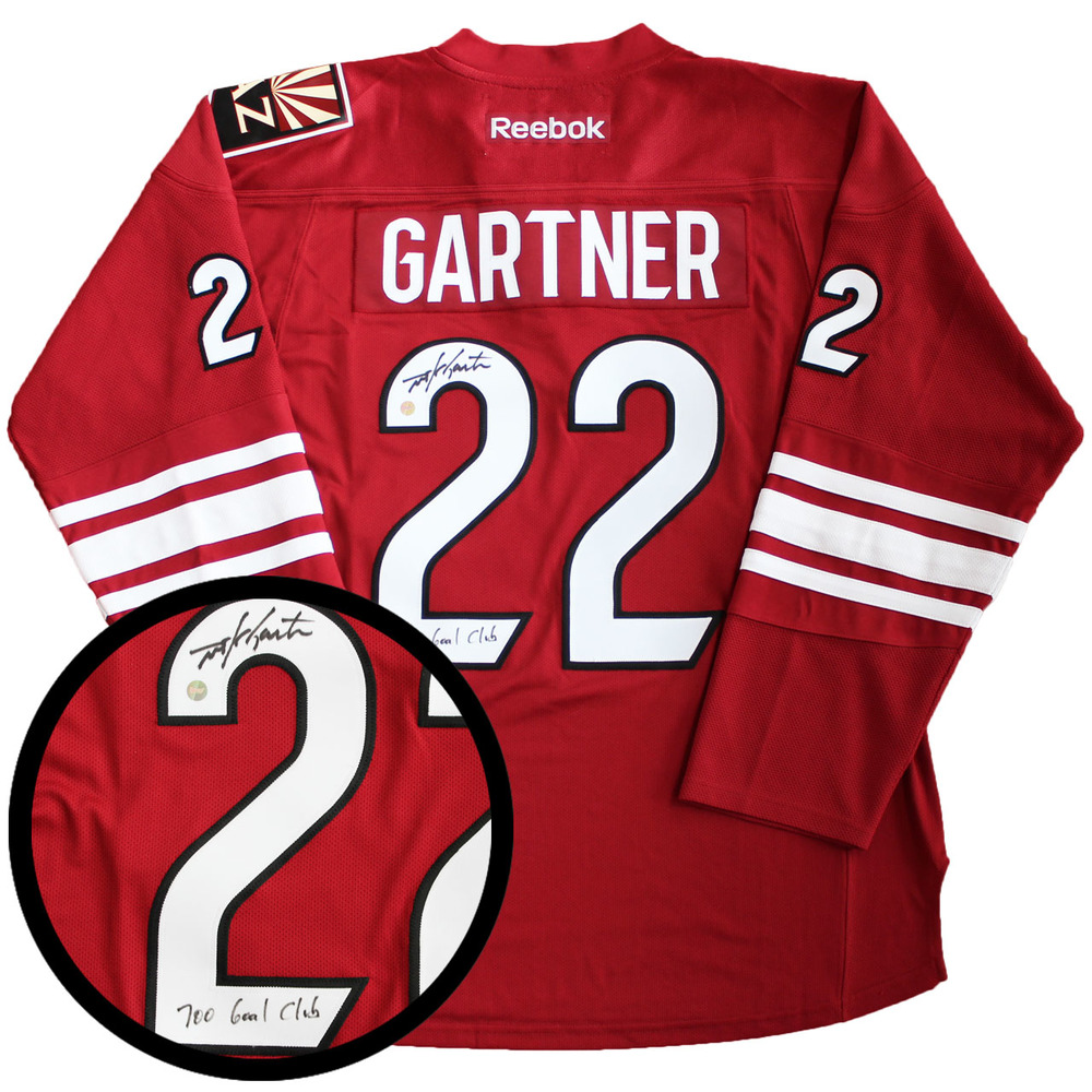 Mike Gartner Signed Jersey Coyotes 700 Goal Inscribed Replica Red 2016-2017 Reebok
