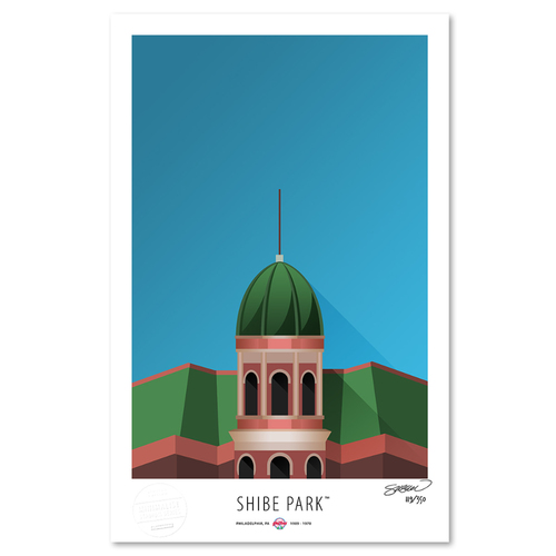 Photo of Shibe Park - Collector's Edition Minimalist Art Print by S. Preston #119/350  - Philadelphia Phillies