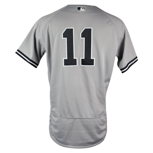 Photo of Brett Gardner New York Yankees 2018 Road Game Used #11 Jersey (5/23/2018)  (2-5 1 Run, 2 Doubles)