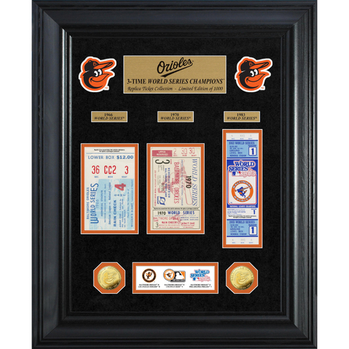 Photo of Baltimore Orioles World Series Deluxe Gold Coin & Ticket Collection