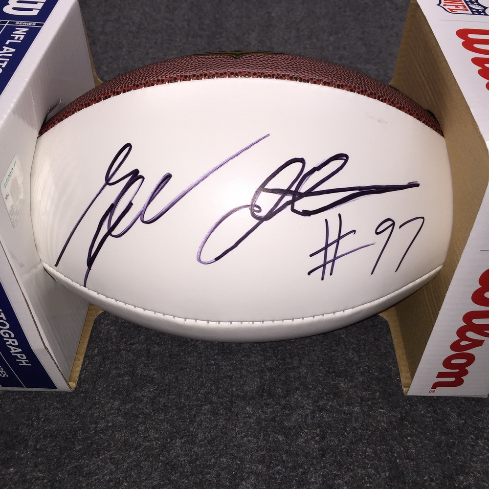 NFL - Bengals Geno Atkins signed panel ball
