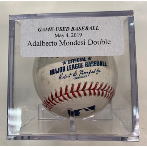 Photo of Game-Used Baseball: Adalberto Mondesi Double