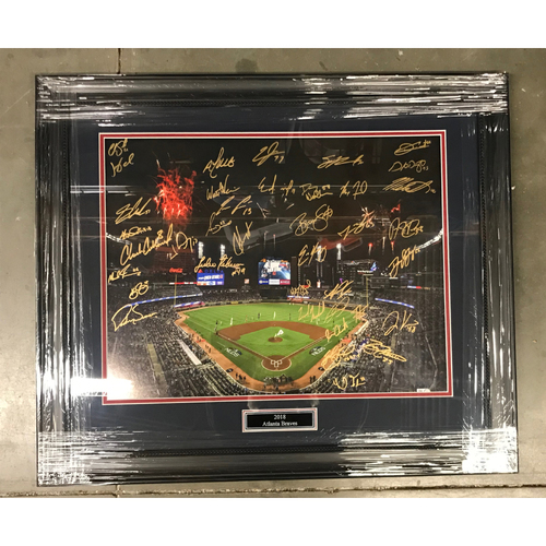 Photo of 2018 Atlanta Braves MLB Authenticated Autographed NLDS Celebration Photo