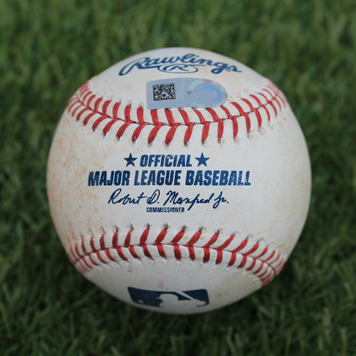 Photo of Game-Used Baseball: Todd Frazier 987th Career Hit (NYM @ KC - 8/16/19)