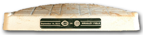 Photo of Game-Used 1st Base -- Used in Innings 1 through 4 -- Reds vs. Cubs -- 9/16/19