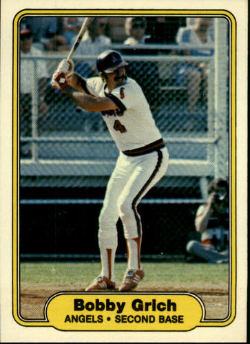 Photo of 1982 Fleer #461 Bobby Grich