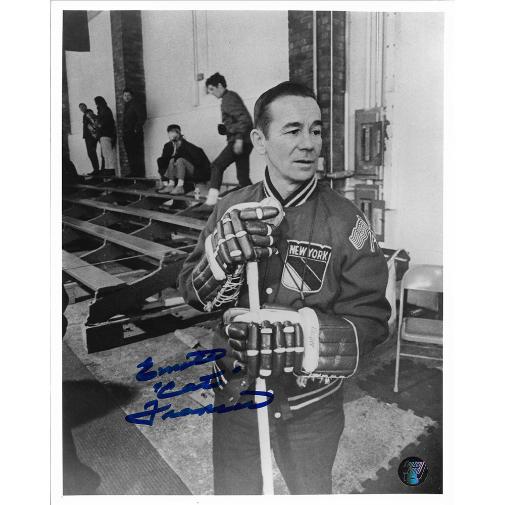 Emile Francis Autographed Chicago Blackhawks 8X10 Photo