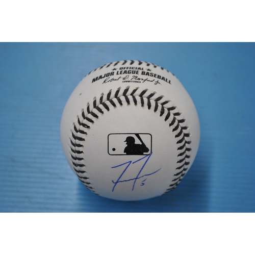 Photo of 2020 MLB Black Lives Matter Commemorative Ball - Autographed by Freddie Freeman