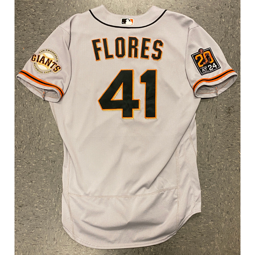 Photo of 2020 Team Issued Road Gray Jersey - #41 Wilmer Flores - Size 46