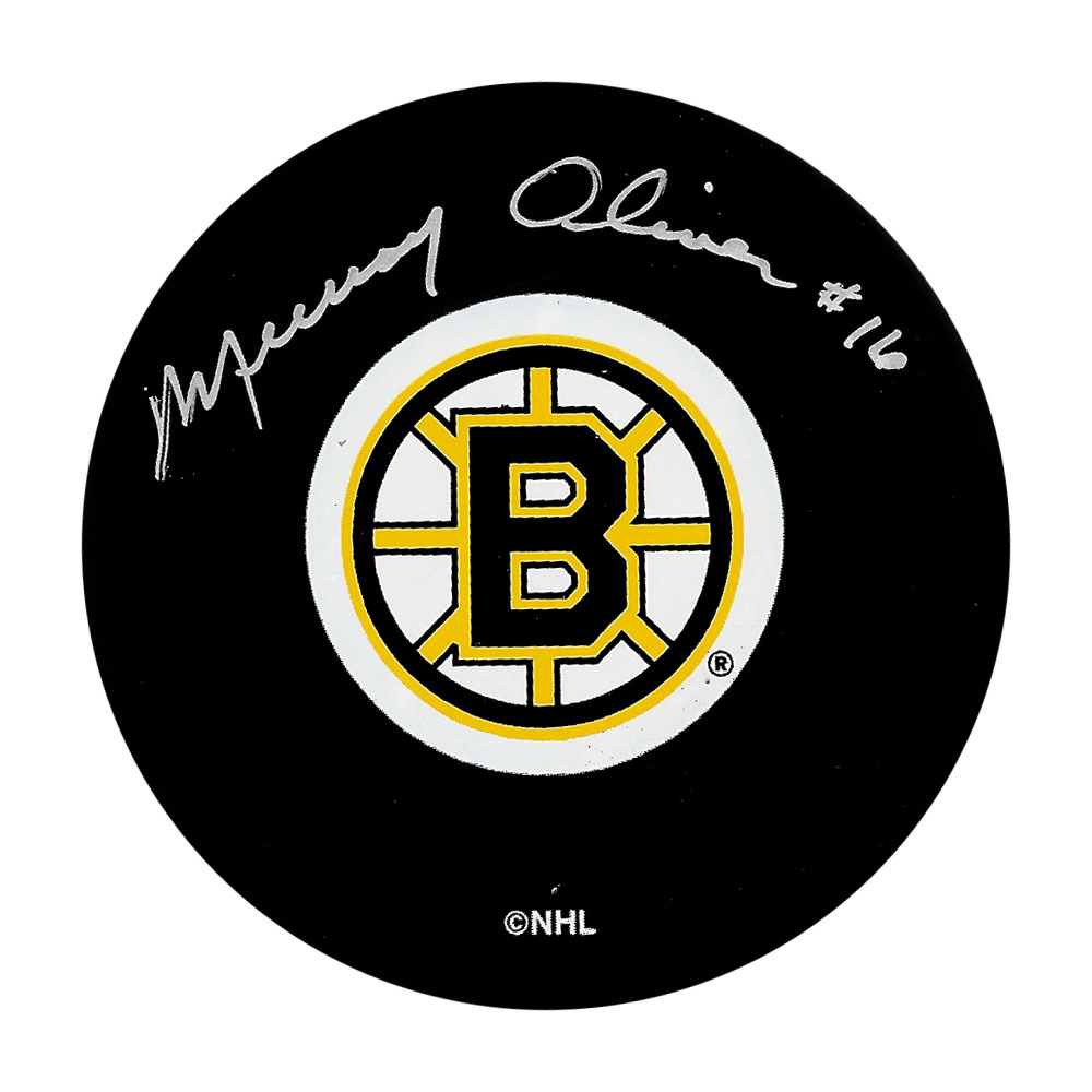 Murray Oliver Autographed Boston Bruins Puck