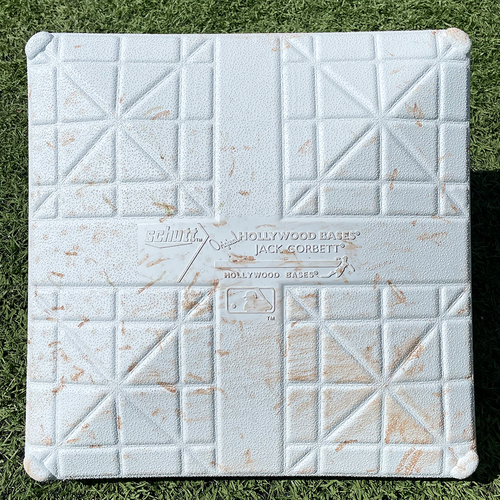 Photo of Game Used Jackie Robinson Day Base - 3rd Base, Innings 4-6 - Mets vs. Nationals - 4/23/21