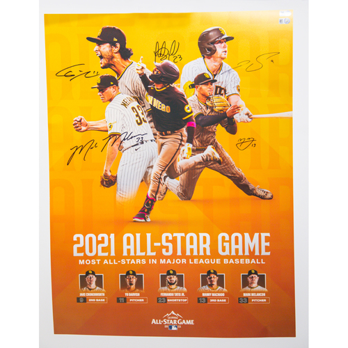 Photo of Poster Autographed by Padres 2021 All-Stars