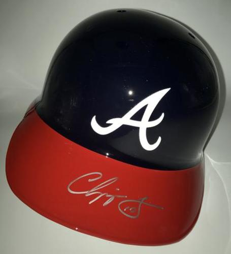 Photo of Chipper Jones Autographed Braves Helmet