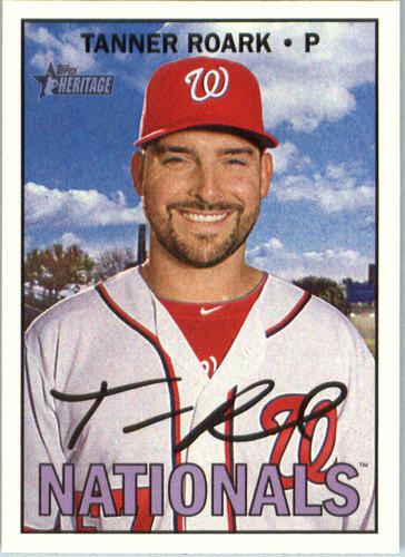 Photo of 2016 Topps Heritage #555 Tanner Roark -- Nationals post-season