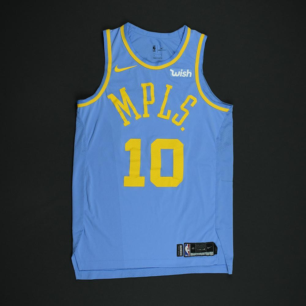 e1b5bdf9c Tyler Ennis - Los Angeles Lakers - Game-Worn Classic Edition Minneapolis  Lakers 1948-