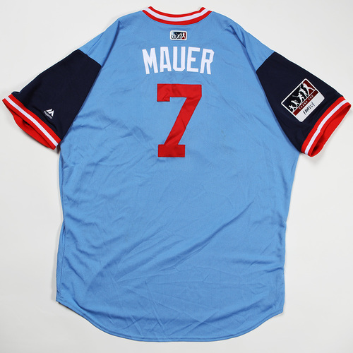 "Photo of Joe ""Mauer"" Mauer Minnesota Twins Game-Used Jersey 2018 Players' Weekend Jersey"