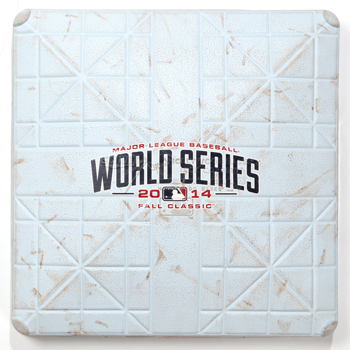 Photo of Game-Used Base: 2014 World Series Game 7 - San Francisco Giants at Kansas City Royals - 3rd Base used in Innings 7-9