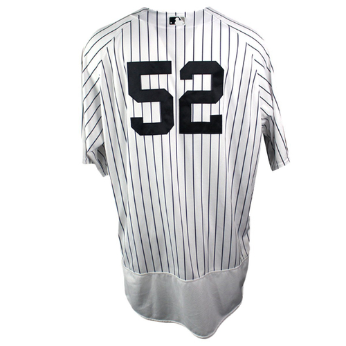 Photo of CC Sabathia New York Yankees 2018 ALDS Game Used #52 Pinstripe Jersey (10/9/18) - Worn in the 1st Inning