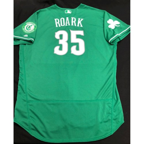 Photo of Tanner Roark -- Team-Issued Jersey -- 2019 St. Patrick's Day