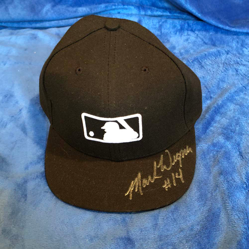 Photo of UMPS CARE AUCTION: Mark Wegner Signed Plate Cap, Size 7 1/8