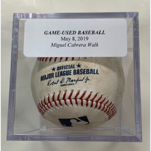 Photo of Game-Used Baseball: Miguel Cabrera Walk