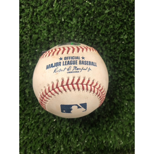 Photo of Manny Machado Game Used Hit Double Baseball - May 2, 2019