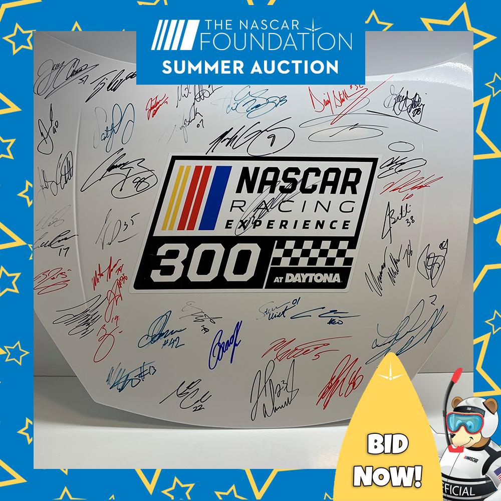 NXS Autographed NASCAR Racing Experience 300 at Daytona hood!