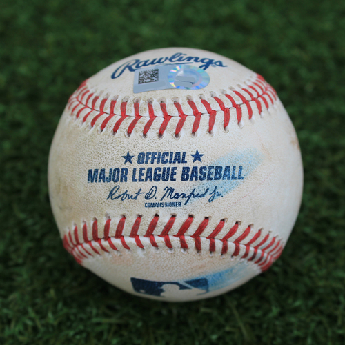 Photo of Game-Used Baseball: Francisco Lindor 774th Career Hit (CLE @ KC - 7/28/19)
