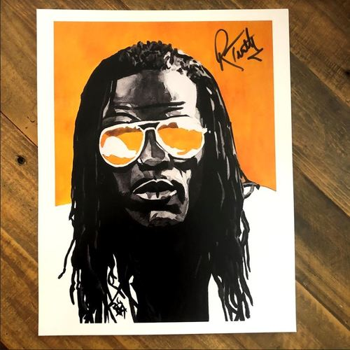 Photo of R Truth SIGNED 11 x 14 Rob Schamberger Print