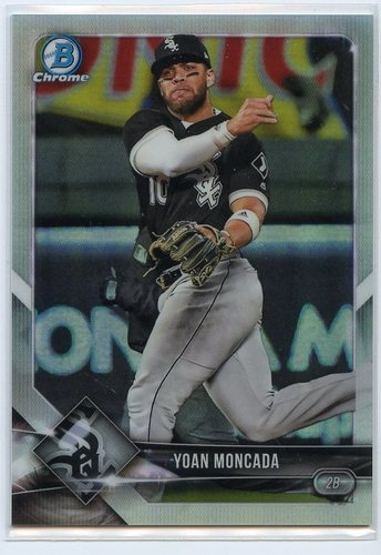 Photo of 2018 Bowman Chrome Refractors #14 Yoan Moncada