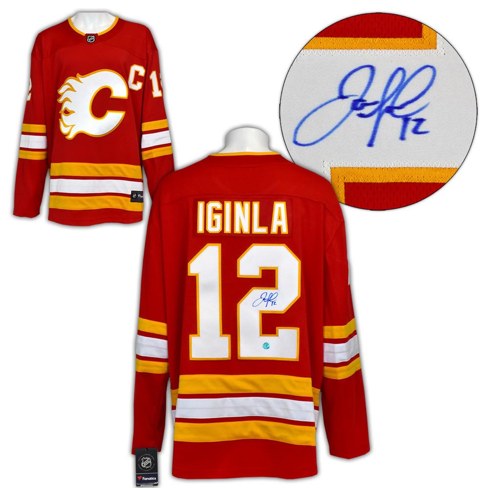 Jarome Iginla Calgary Flames Autographed Retro Alternate Fanatics Hockey Jersey