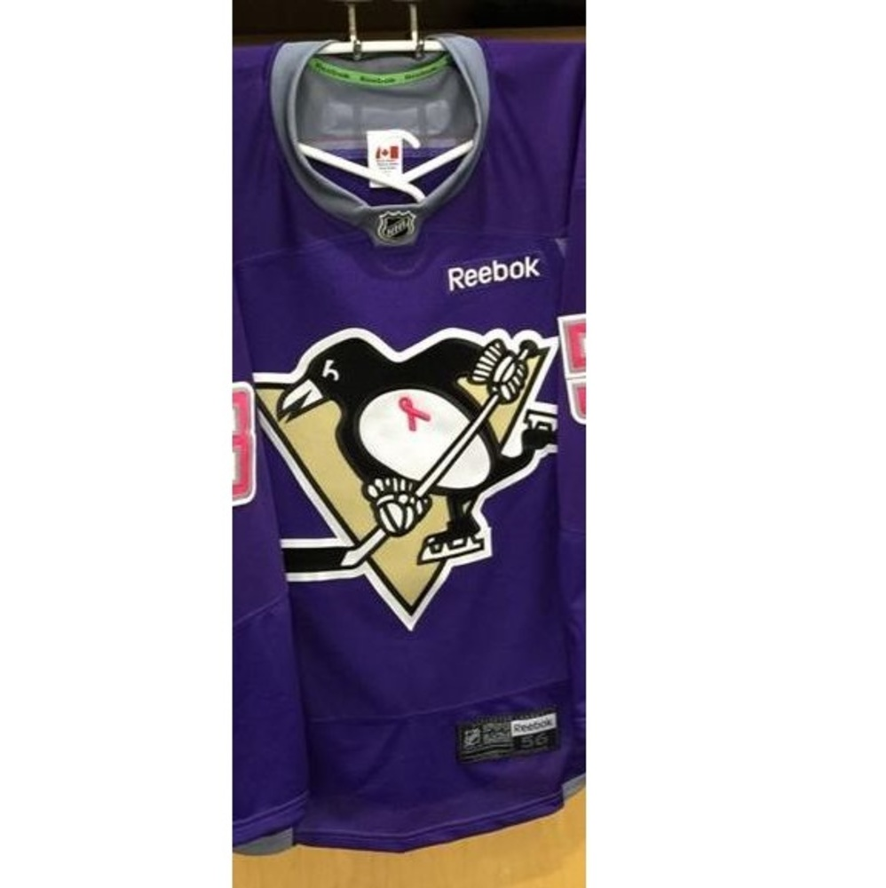 new products c368b 588ee Pittsburgh Penguins Hockey Fights Cancer auction - Jayson ...