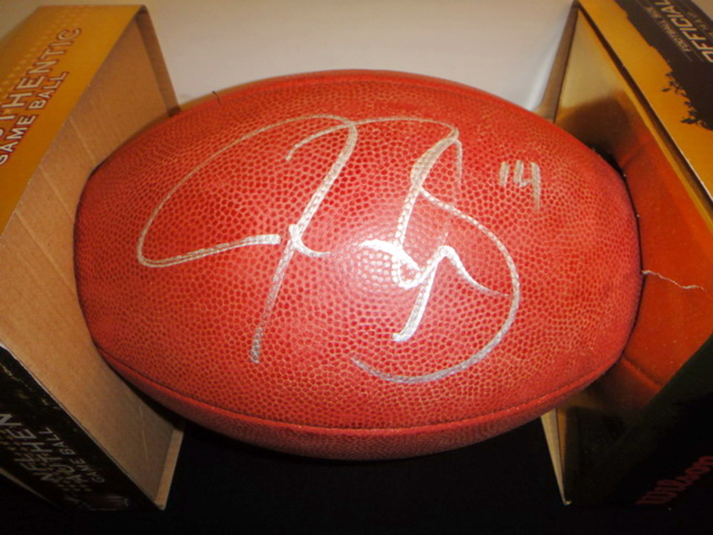 NFL - JUSTIN BLACKMON SIGNED AUTHENTIC FOOTBALL