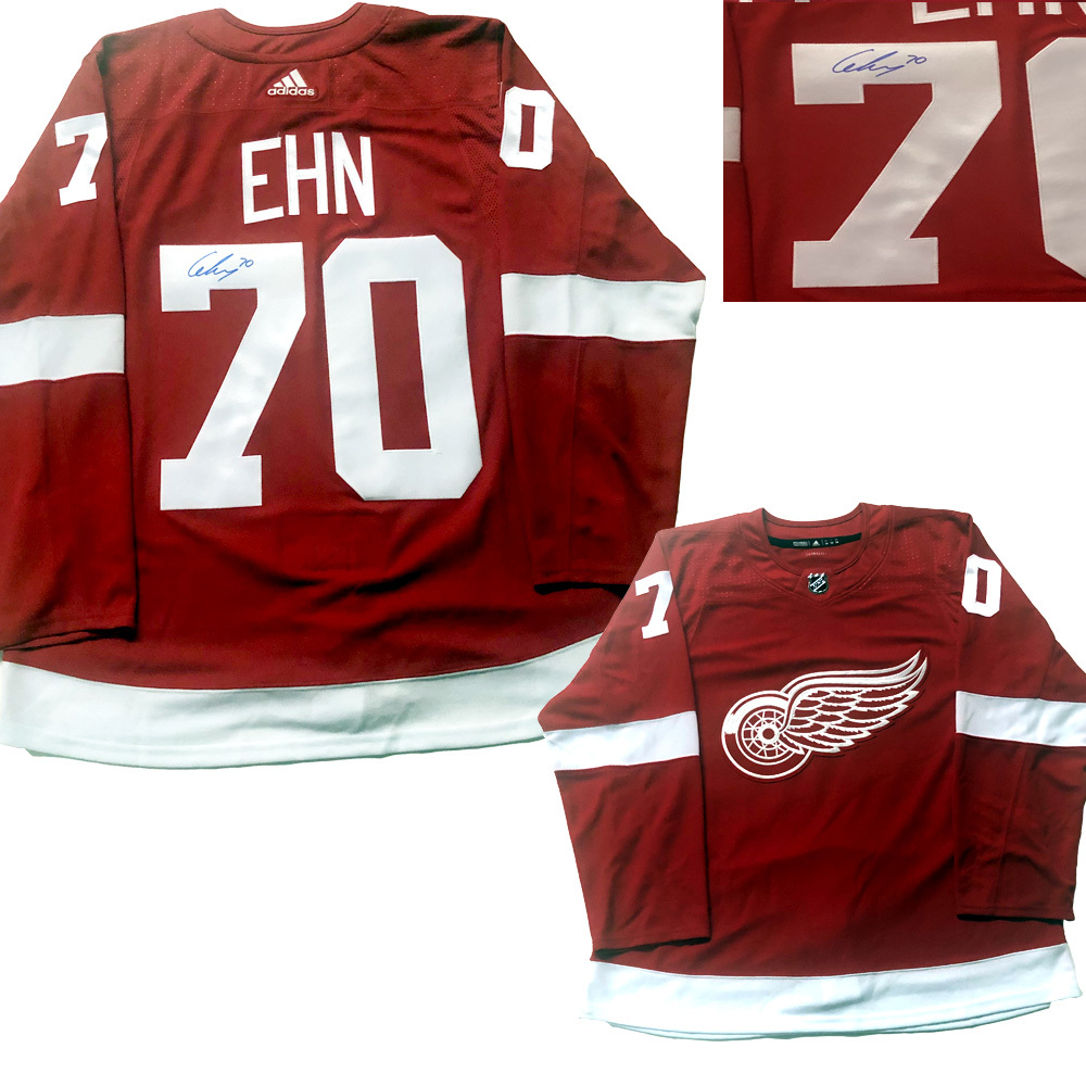 CHRISTOFFER EHN Signed Detroit Red Wings PRO Red Jersey